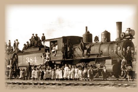 Ein Waisen-Zug in den Westen der USA