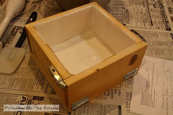Harland made this mold from the directions on this soapmaking website, Miller's Homemade Soap pages. All the soap recipes on that site fit perfectly into ...