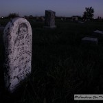 Country Cemetery At Night