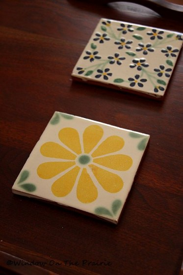 Tile Coasters Window On The Prairie
