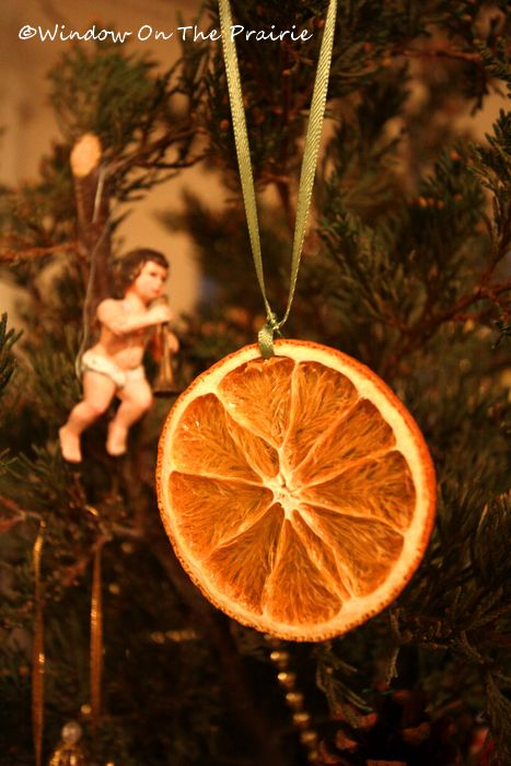 Homemade Christmas Decorations Dried Orange : Dried orange slice ornaments ? window on the prairie