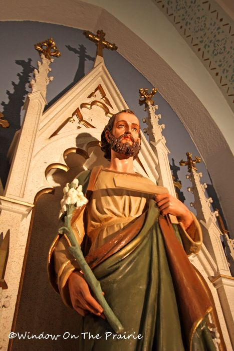 statue of St. Joseph on right side altar