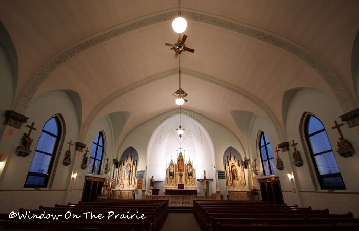 Looking toward the front of the church