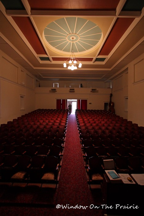 View from the stage at the Waterville Opera House