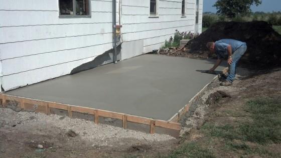 New Siding Project Part 6 Concrete Pour Day Window